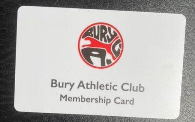 Bury AC Membership Cards and System